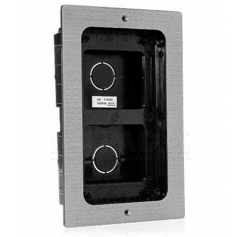 Boitier encastrement plaque mikra aluminium - URMET 1122/50