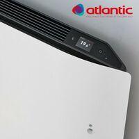Radiateur électrique Atlantic DIVALI - Horizontal 750W - Pilotage Intelligent Connecté Lumineux GRIS - 507623