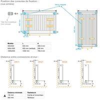 Radiateur chauffage central H2O DK22 Vertical Ardoise Noire 1172W VALDEROMA 02150022