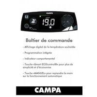 Radiateur électrique Campa - CAMPAVER Ultime 3.0 Horizontal Noir Astrakan 750W - CMUD08HSEPB