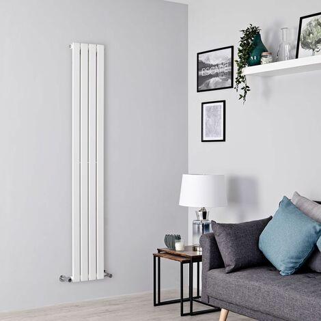 Radiateur Design Delta - Vertical Blanc 160 cm x 28 cm x 4,6 cm 588 Watts