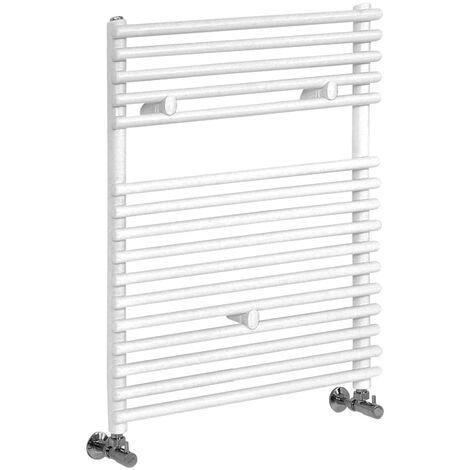 Hudson Reed Arno - Sèche-Serviettes Design Moderne - Blanc - 73 cm x 45 cm