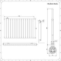 Hudson Reed Delta – Radiateur Design Électrique Horizontal – Simple Rang – 63.5 x 98 x 4.6cm 800 Watts