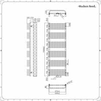 Hudson Reed Arch – Sèche-Serviettes Incurvé – Blanc 153.3 x 50cm