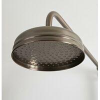 Hudson Reed Elizabeth - Colonne de douche rétro avec Mitigeur thermostatique à double sorties exposé, Pommeau pluie rond, Kit douchette - Bronze huilé