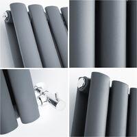 Hudson Reed Vitality – Radiateur Design Vertical – Anthracite – 178 x 59cm Double Rang