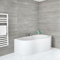 Hudson Reed Covelly - Baignoire Angle Côté Droit avec Tablier Blanc - 150cm x 100cm