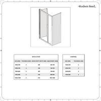 Hudson Reed Portland - Porte de Douche Pliante 90cm - Chromé