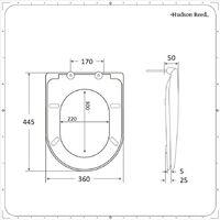 Hudson Reed Nox - Abattant WC Moderne Noir