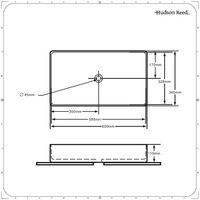 Hudson Reed Alswear - Vasque Rectangulaire à Poser - 60cm x 34cm