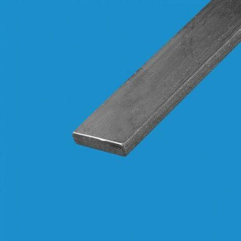 Fer plat acier 100mm Epaisseur en mm - 5 mm, Longueur en metre - 1 metre, Sections en mm - 100 mm