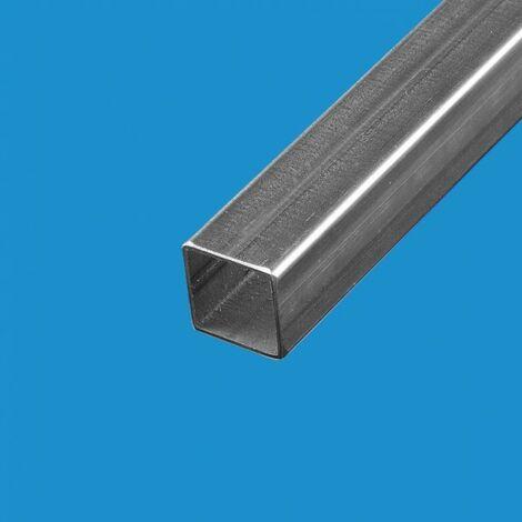 Tube acier carre 60 x 60 mm Epaisseur en mm - 2 mm, Longueur en metre - 1 metre, Sections en mm - 60 x 60 mm