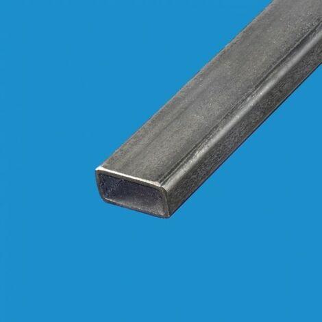 Tube rectangulaire acier 60x30 Epaisseur en mm - 2 mm, Longueur en metre - 1 metre, Sections en mm - 60 x 30 mm