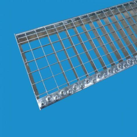 Marche Caillebotis acier galvanise Largeur - profondeur en mm - 600 mm x 240 mm