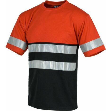 Camiseta Combi 0493C   3XL - Rojo+Negro
