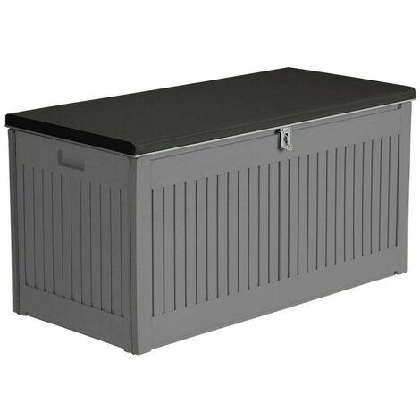 Airwave Outdoor Plastic Garden Storage Box 270L - Grey