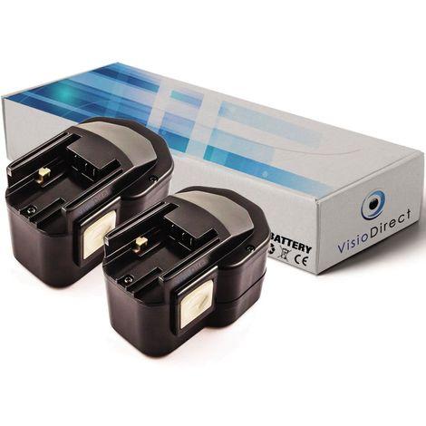 Lot de 2 batteries pour AEG BEST12BBPB perceuse visseuse 12V 2000mAh - Visiodirect -