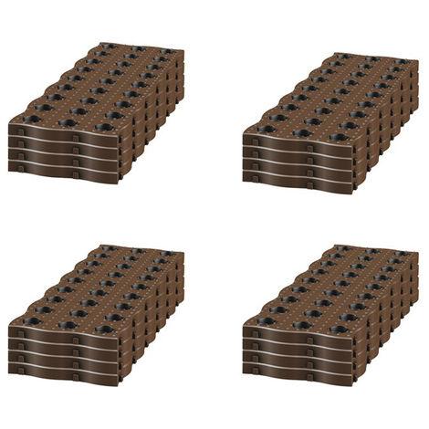 Kit de 16 dalles pour chemin potager ou jardin - Dim : 24 X 70 cm -PEGANE-