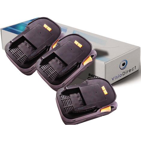 Lot de 3 batteries pour AEG BSS18C visseuse à chocs 3000mAh 18V