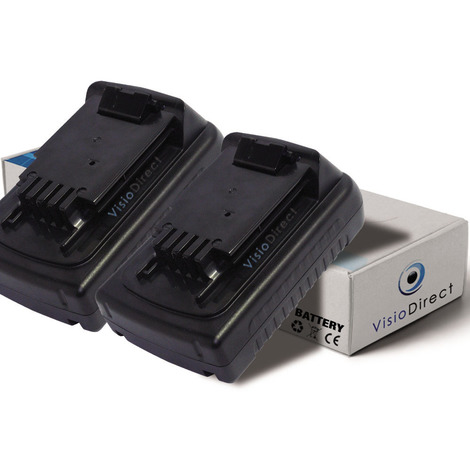 Lot de 2 batteries pour Black et Decker ASL188K perceuse sans fil 1500mAh 18V