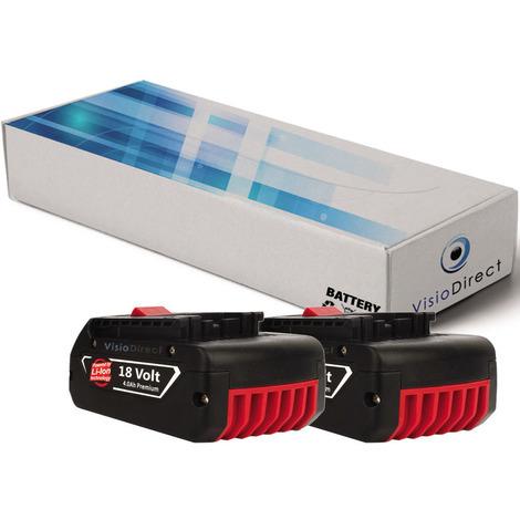 Lot de 2 batteries pour Bosch GGS 18 V-LI meuleuse droite 4000mAh 18V