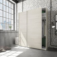 Armoire avec 2 portes coloris blanc alpes - 200 x 150 x 60 cm -PEGANE-