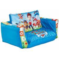 Canapé lit Gonflable Enfant Pat Patrouille en Polytser, Coloris bleu - Dim : 26 x 68 x 105 cm -PEGANE-