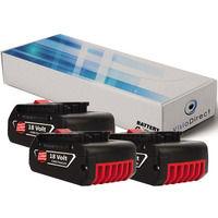 Lot de 3 batteries pour Bosch GWS meuleuse angulaire 18 V-LI 4000mAh 18V