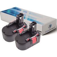 Lot de 2 batteries pour Bosch GWS 14.4V meuleuse angulaire 3000mAh 14.4V