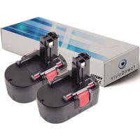 Lot de 2 batteries pour Bosch GWS 14.4V /3B meuleuse angulaire 3000mAh 14.4V