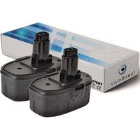 Lot de 2 batteries pour DEWALT DW999K2H marteau perforateur 3000mAh 18V
