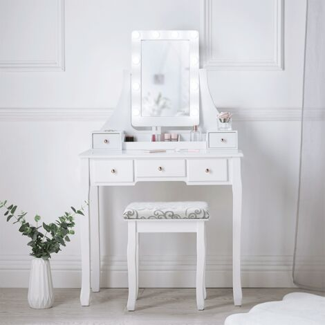 Vasagle Dressing Table Set With Large