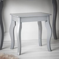 Sorrento - Grey Dressing Table With Drawer Rose Gold Handle Vintage Design and Stool Set