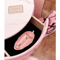 Ibiza Bohemia Velvet Dressing Table with LED Touch Sensor Mirror in Ballerina Pink