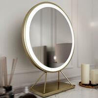 Miami Deco Sexy Raspberry Velvet Dressing Table with LED Touch Sensor Mirror