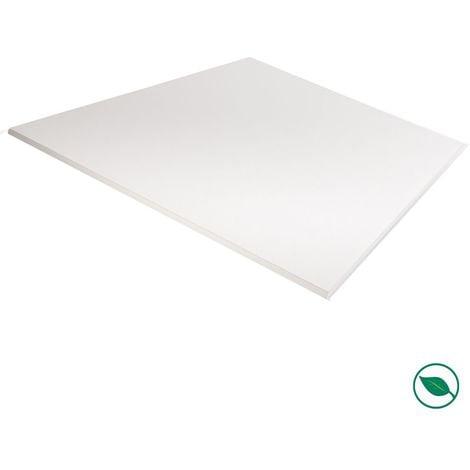 Plateau mélaminé blanc 1200 x 800 x 18 mm - PEFC 75% .