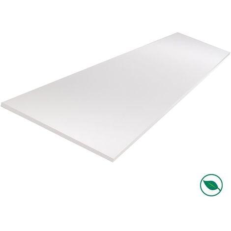 Tablette mélaminé blanc 800 x 200 x 18 mm - PEFC 75% .