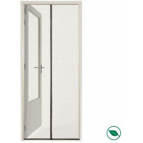 Moustiquaire porte magnétique noir standard + velcro blanc 235 x 95 cm.
