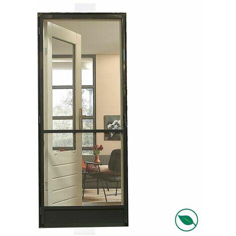 Moustiquaire porte comfort gris anthracite 235 x 100 cm.