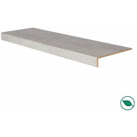 Marche rénovation d'escalier stratifié light grey 1300 x 380 x 5,6 mm .