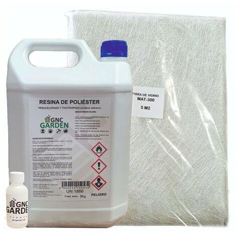 5 kg kit de reparation de resine polyester
