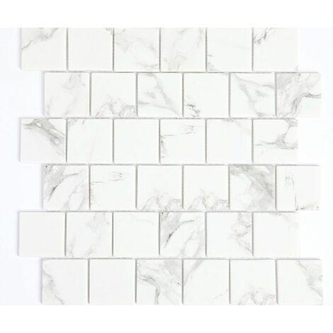 Mosaic Moss52-0103 Carrelage mural en verre Blanc