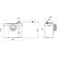 SFA Sanibroyeur UP Pompe cuvettes traditionnelle à sortie horizontale pour WC