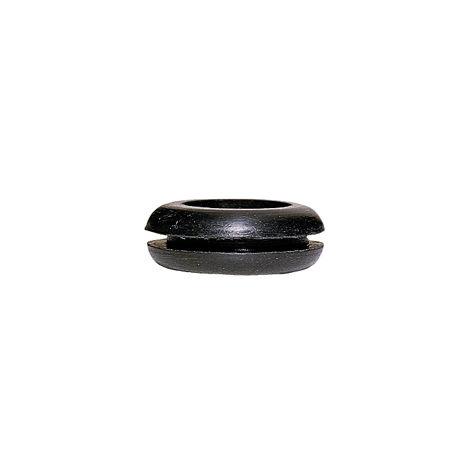 Passe-fil PVC noir - pour fil Ø maxi 6 - Ø perçage 10