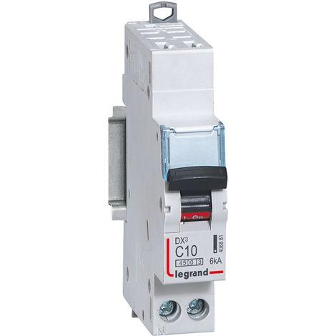Disjoncteur DX³ 4500 - auto/vis - U+N 230V~ 10A - 6kA - courbe C - 1 mod