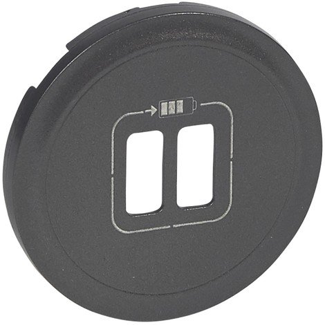 Prise USB double pour Chargeur Graphite Legrand celiane + Enjoliveur