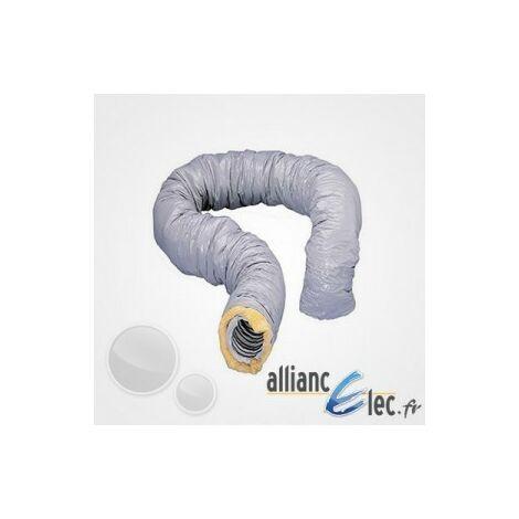 Gaine isolée Atlantic Aluminium diam, 160 Calorifugé 6 Metres