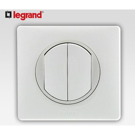 Double va et vient Legrand celiane blanc complet