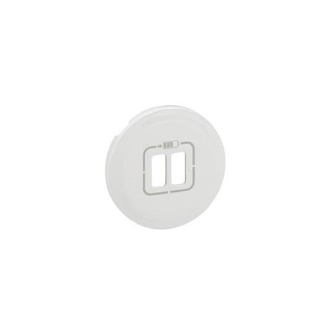 Prise USB double pour Chargeur blanc Legrand celiane + Enjoliveur