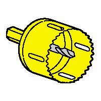 Scie cloche pour boite applique Batibox cloison sèche 893 47 - Ø54